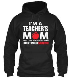 Teacher's Mom T Shirt Black T-Shirt Front