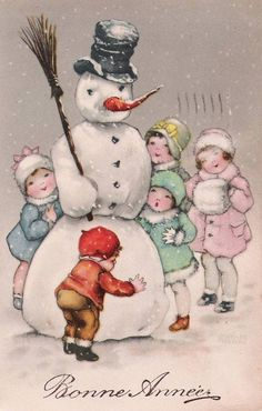 Vintage Christmas Illustration de Hannes Petersen