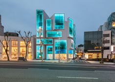 Dutch studio MVRDV has transformed the facade of an ageing mixed-use building into a stack of shop windows in Gangnam, the trendy district of Seoul