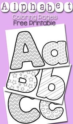 Free printable alphabet coloring pages! These coloring pages are a fun craft for preschoolers who are learning the alphabet! Let your little students practice the alphabet with these fun coloring sheets! Preschool Literacy, Preschool Letters, Preschool Printables, In Kindergarten, Free Printable Alphabet Letters, Printable Crafts, Preschool Alphabet Activities, Art Center Preschool, Abc Printable