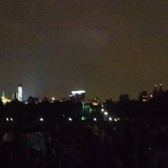 Looking south towards Columbus circle from great lawn in central park