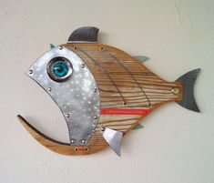 Excited to share the latest addition to my shop: Fish Sculpture, Handmade … – Fish Supplies Fish Wall Art, Fish Art, Fish Fish, Fish Sculpture, Sculptures, Deco Marine, Steampunk Theme, Wood Fish, Deco Originale