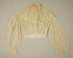 Bodice    Date:      1860–65  Culture:      American  Medium:      cotton  Dimensions:      Length at CB: 17 1/2 in. (44.5 cm)  Credit Line:      Gift of Mrs. William R. Witherell, 1953