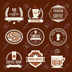 36182597-Vector-set-of-coffee-shop-logos-restaurant-or-bar-logotype-design--Stock-Photo.jpg (1300×1300)
