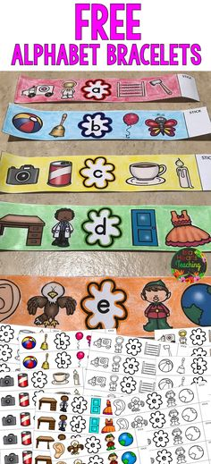 FREE ALPHABET BRACELETS for your pre k and kindergarten students (Perfect for phonics, sounds, letter recognition and ELA lessons) #islaheartsteaching