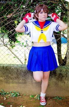 Witchiko as Sakura Kasugano from Street Fighter Kasugano, Cosplay Anime, Mortal Kombat, Cheer Skirts, New Look, Most Beautiful, The Incredibles, Cosplay Ideas, World