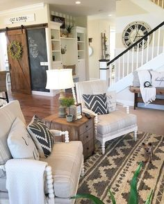 Awesome Farmhouse Living Room Idea 17 Renovation Maison Salon Future