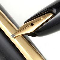 "Hepworth Dixon: Montblanc 32 Piston Filling Fountain Pen featuring ""Intarsia Feder"" 585 (spring nib)"