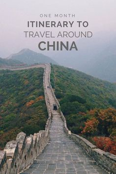 One Month Itinerary To Travel Around China. Travel in Asia.