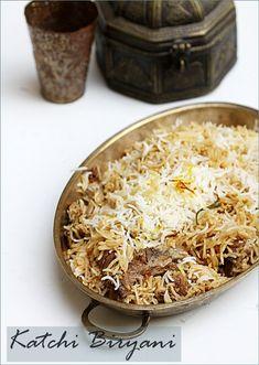 "Katchi Biryani … perhaps Hyderabads most renowned biryani ""Biryani is often called India's signature dish"" Spicy Recipes, Indian Food Recipes, Whole Food Recipes, Cooking Recipes, Prawn Recipes, Arabic Recipes, Lobster Recipes, Veg Recipes, Chicken Recipes"