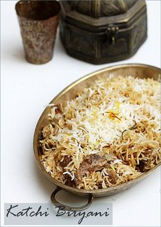 "Katchi Biryani … perhaps Hyderabads most renowned biryani      ""Biryani is often called India's signature dish"""