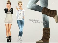 Winter Wonder Fur Boots by Ms Blue - Sims 3 Downloads CC Caboodle