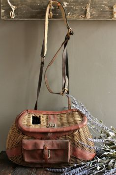 Vintage Creel Basket Authentic Creel Basket by OurVintageBungalow