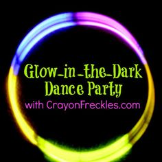 Glow-In-The-Dark Dance Party ~Kids Co-opHousing a Forest