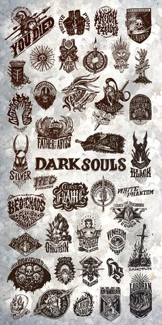 Dark Souls Emblem Collection!!Love this!!!!