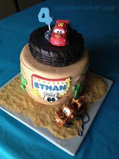 Custom Cakes by Julie: Lightning McQueen Cake