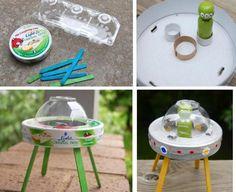 Comment fabriquer des jouets avec du matériel recyclé (vaisseau d'extraterrestres)