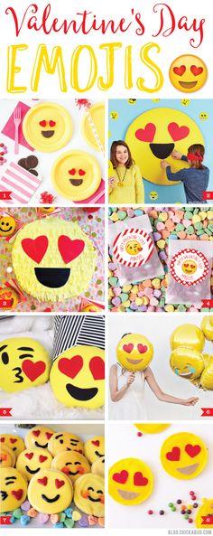 Valentine's Day Emojis. Super cute emoji themed ideas for Valentine's Day!