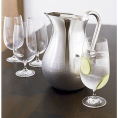 Jane Water Goblet in Wine Glasses | Crate and Barrel