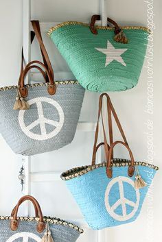 Summer bag | basket | peace, love and .... Summer vibes !