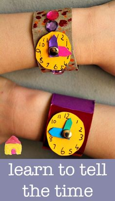 Learn to tell the time clock craft is part of Teaching time - learn to tell the time clock craft a great DIY watch craft for kids learning to tell the time Teaching Time, Teaching Math, Telling Time Activities, Teaching Spanish, Math Classroom, Classroom Activities, Preschool Activities, Kids Learning, Learning Time Clock