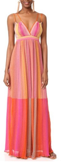Cheerful Striped Maxi Dress