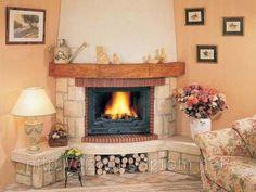 угловой камин из кирпича: 18 тыс изображений найдено в Яндекс.Картинках Fireplace Hearth, Fireplaces, Diy And Crafts, Sweet Home, Living Room, Interior Design, House, Home Decor, Google