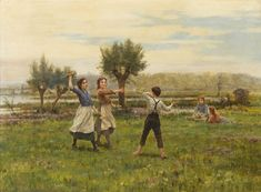 Cesar Pattein (1850 - 1931) - Flower Toss, 1911