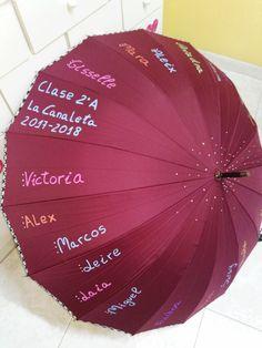 Paraguas para regalo fin de curso, profesores