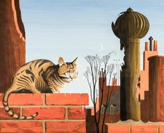 For Sale on 1stdibs - C is for Cat, Paper, Gouache by Thomas Fransioli. Offered by Hirschl & Adler.
