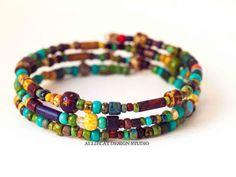 Beaded Bracelet, Handmade Bracelet, Boho Bracelet, Bohemian Picasso Bracelet