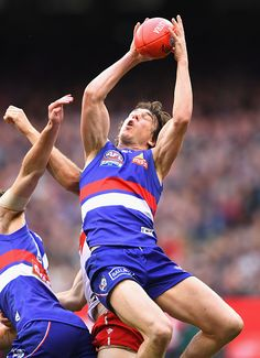 Liam Picken of the Bulldogs marks during the 2016 AFL Grand Final match between the Sydney Swans and the Western Bulldogs at Melbourne Cricket Ground...