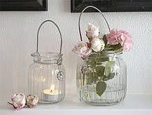 *FRÜHLINGs Vintage Vase / Windlicht GROSS