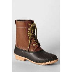 Lands' End Women's Duck Boots ($99) ❤ liked on Polyvore featuring shoes, boots, lands end boots, lands' end, water proof boots, lands end shoes and waterproof shoes