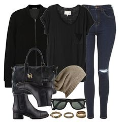 """""""Style #9404"""" by vany-alvarado ❤ liked on Polyvore featuring T By Alexander Wang, Topshop, rag & bone, Chanel, AllSaints, Ray-Ban and Forever 21"""