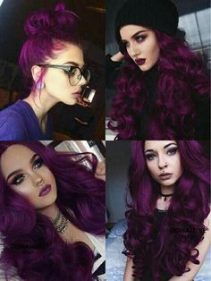 Haare Cabelo plum hair color - Hair Color Board Games: Still Fashionable Or T Gorgeous Hair Color, Hair Color Purple, Hair Dye Colors, Hair Color For Black Hair, Cool Hair Color, Dark Purple Hair, Violet Hair Colors, Gorgeous Makeup, Green Hair