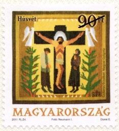 Easter 2011 postage stamp by Hungary