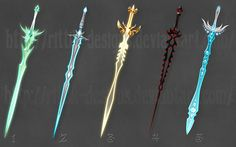 Swords (set 3) by Rittik-Designs on @DeviantArt
