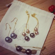 Cotton pearl accessories Handmade♡