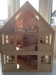 Early Childhood · Wooden Dolls House, ELC, Including All Furniture. I Had  This One, Without
