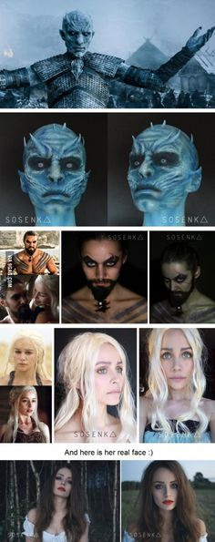 Awesome characters makeups from GAME OF THRONES by Sosenka!