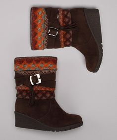 Take a look at this Lucky Top Brown Pure Boot by Cute to Boot Collection on #zulily today!