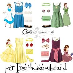 Belle (Beauty and the Beast) by frenchdisneybound on Polyvore featuring Antonio Melani, Suoli, Miss Selfridge, JustFab, Crocs, ANS, Nine West, Banana Republic, Forever 21 and Bling Jewelry
