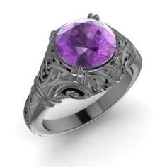 Rings - Lyndsayclark - Amethyst Ring in 14K Black Gold (1.58 ct.tw.)