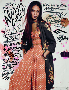 Joan Smalls, Tali Lennox Are Boho Babes in Free People's February Catalog Fashion Art, Editorial Fashion, Boho Fashion, Fashion Models, Fashion Trends, Punk Fashion, Lolita Fashion, Retro Fashion, Fashion Dresses