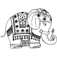 Indian Elephant Coloring Pages 2