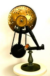 Music instrument (assemblage art in my opinion) by Iner Souster .This pin is in my board ANY WAY THE ART IS too ! Assemblage Art, Music Instruments, Home Appliances, Board, Handmade, Diy, Inspiration, House Appliances, Biblical Inspiration