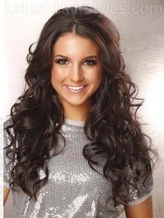 Brunette Layered Wavy Long Hair