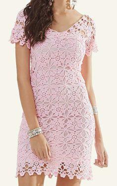 Fabulous Crochet a Little Black Crochet Dress Ideas. Georgeous Crochet a Little Black Crochet Dress Ideas. Short Summer Dresses, Trendy Dresses, Short Sleeve Dresses, Baby Dresses, Black Crochet Dress, Crochet Blouse, Pink Dress, Lace Dress, Tunic Dress Patterns