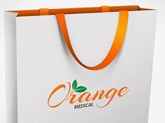 Orange Medical bag designed by Astrit. Battery Logo, Medical Bag, Design Inspiration, Orange, Logos, Logo